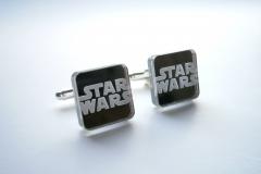 star wars mirror acrylic cufflinks