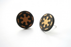 star wars emperial stud earrings