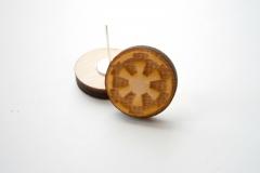 Star wars imperial wooden earrings