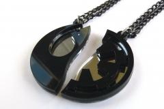 Star-Wars-Rebels-Empire-best-friends-necklaces-Laser-cut-mirror-black-plastic-2