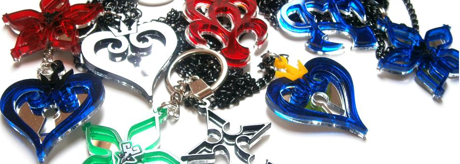 Kh Blue Necklace Sora Kairi Cosplay Pendant