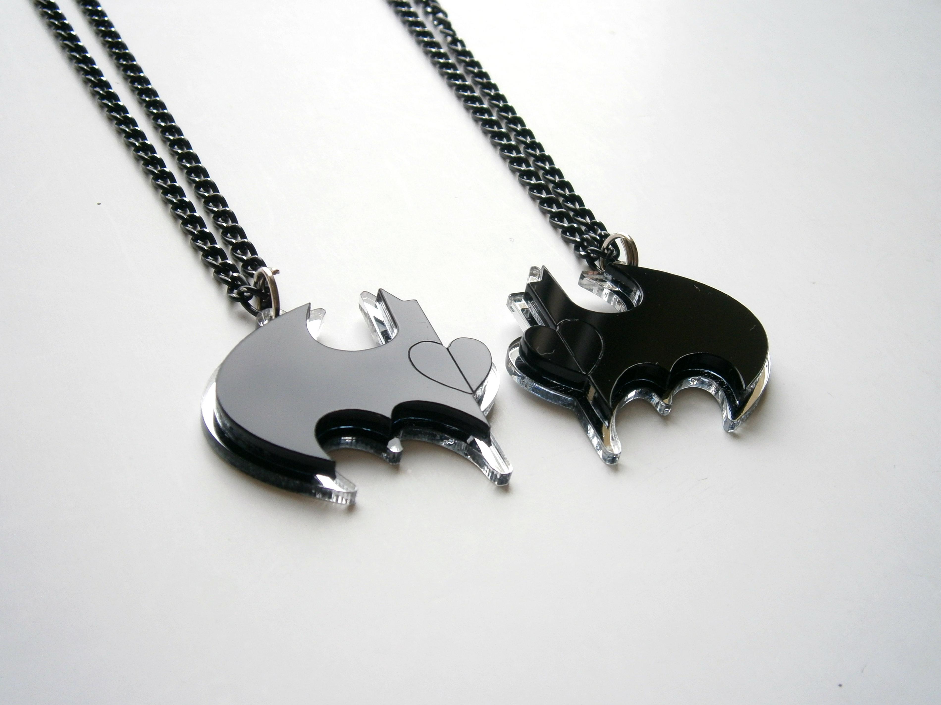 batman friendship necklaces inspiring jewelry sale