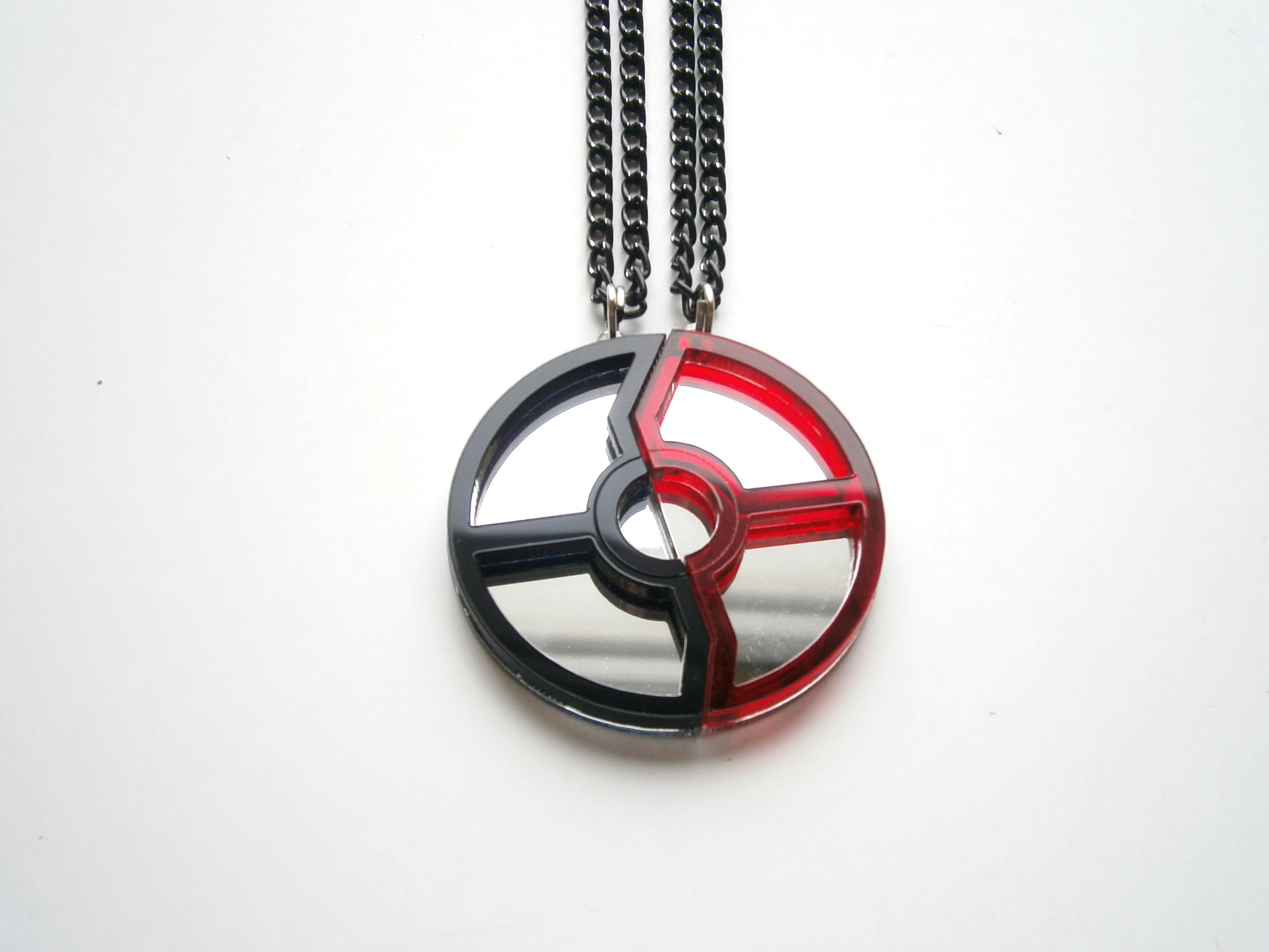 Pokeball Necklaces Pokemon Friendship Necklaces