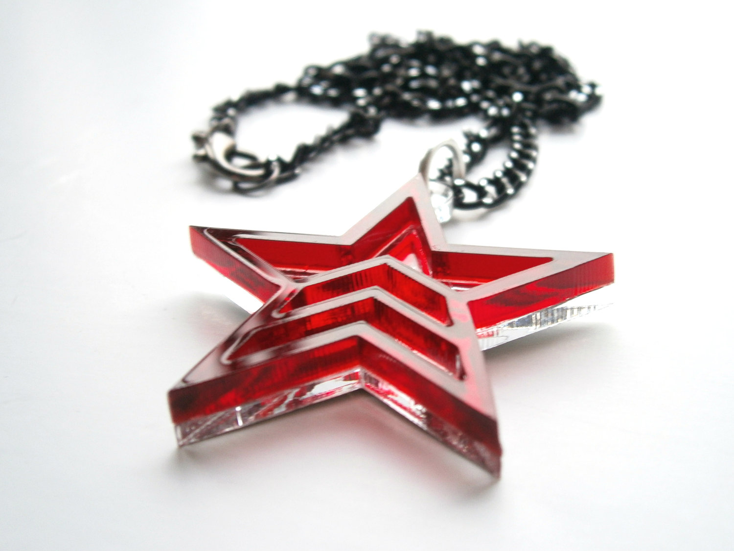 Mass effect renegade pendant necklace mass effect jewelry aloadofball Image collections