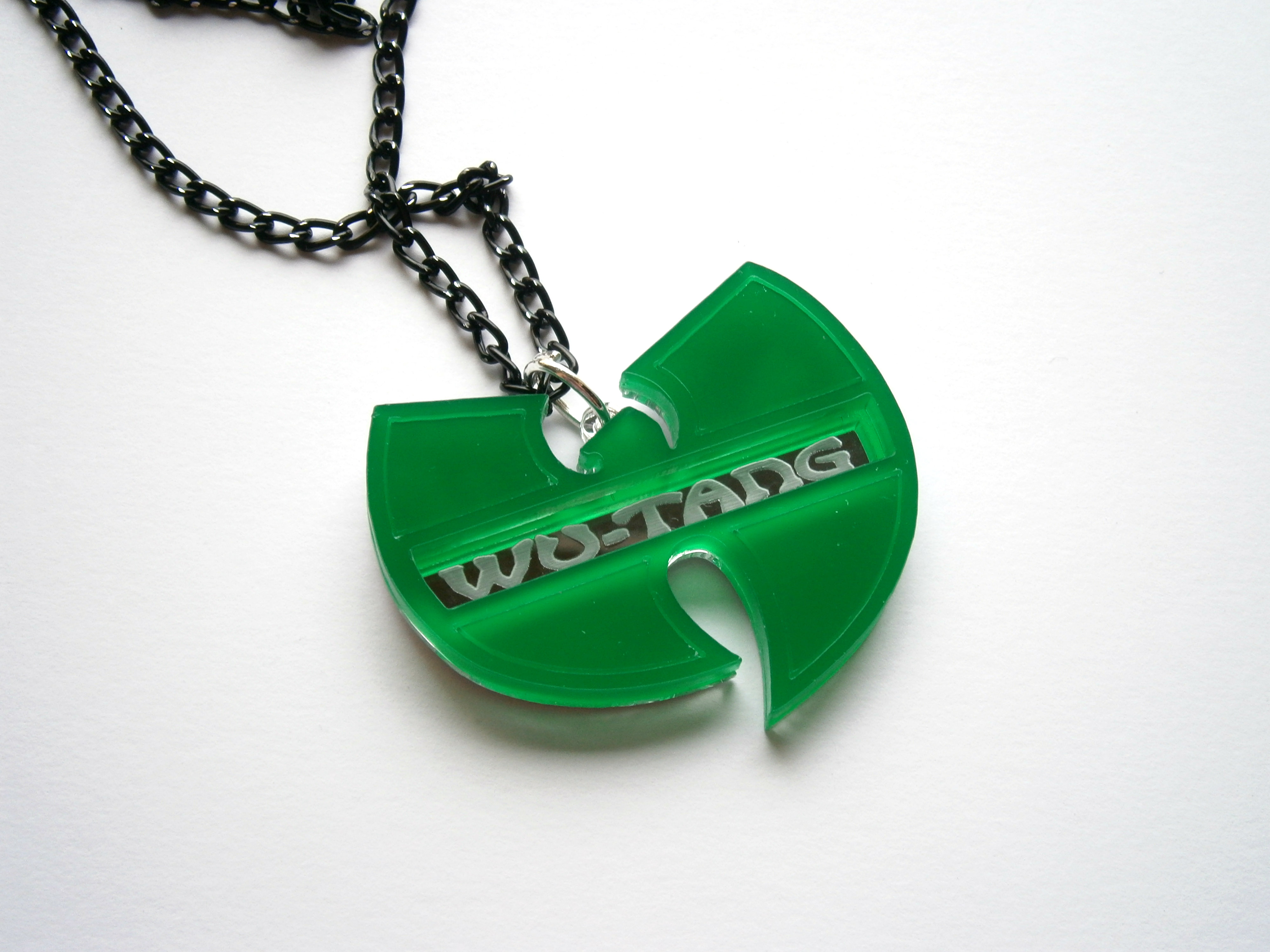 Wu tang pendant laser cut and engraved hip hop necklace aloadofball Images