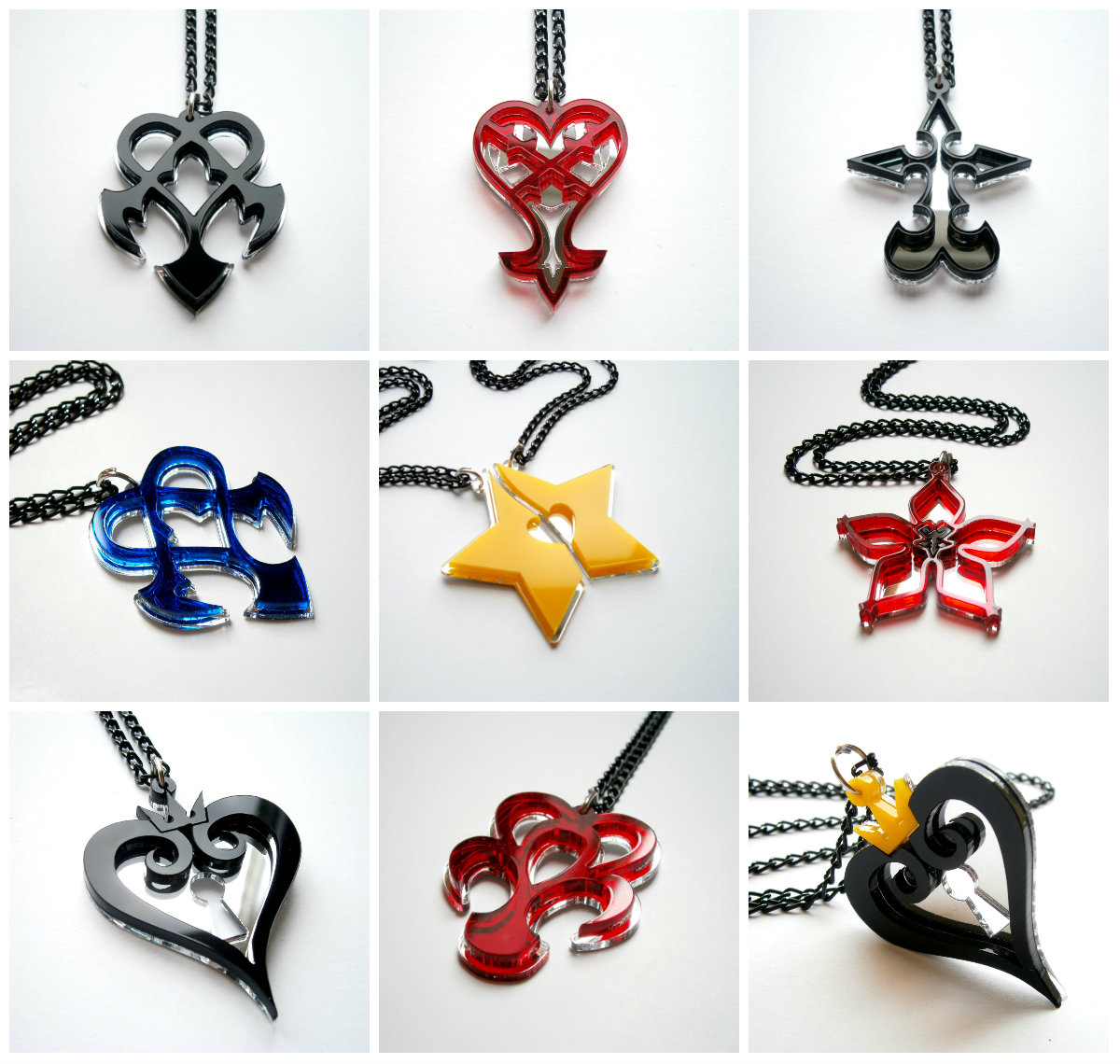 Kingdom hearts keyblade necklace blue acrylic aloadofball Image collections