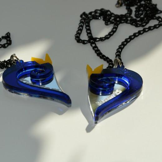 Kingdom Hearts Charm Bracelet: Hearts Emblem Best Friends Necklaces