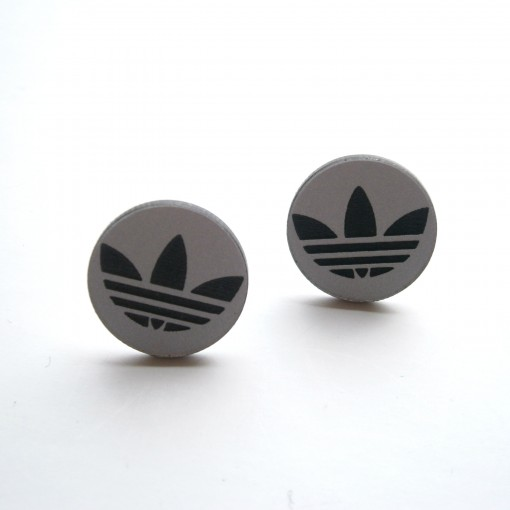 Adidas Stud Earrings, Circle Stud, Silver Background. Mangalsutra Jewellery. Jewelry Finding Jewellery. Ndebele Jewellery. Vajratik Jewellery