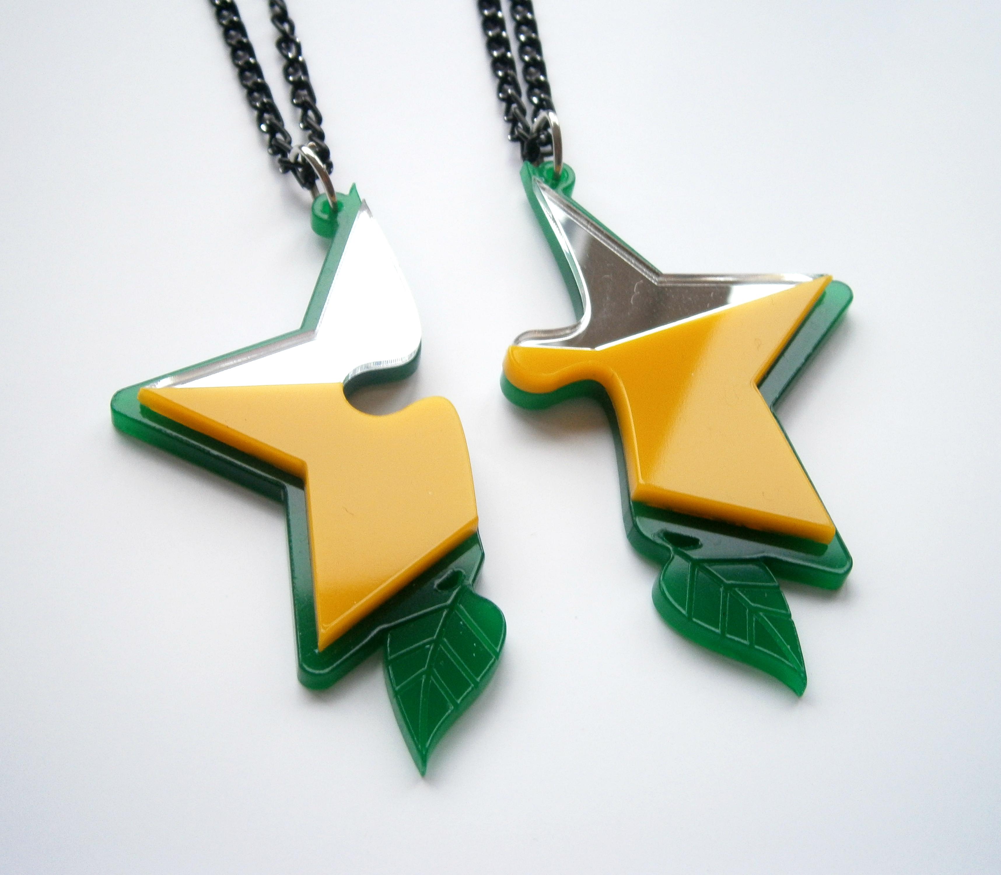 kingdom hearts paopu fruit best friends necklaces