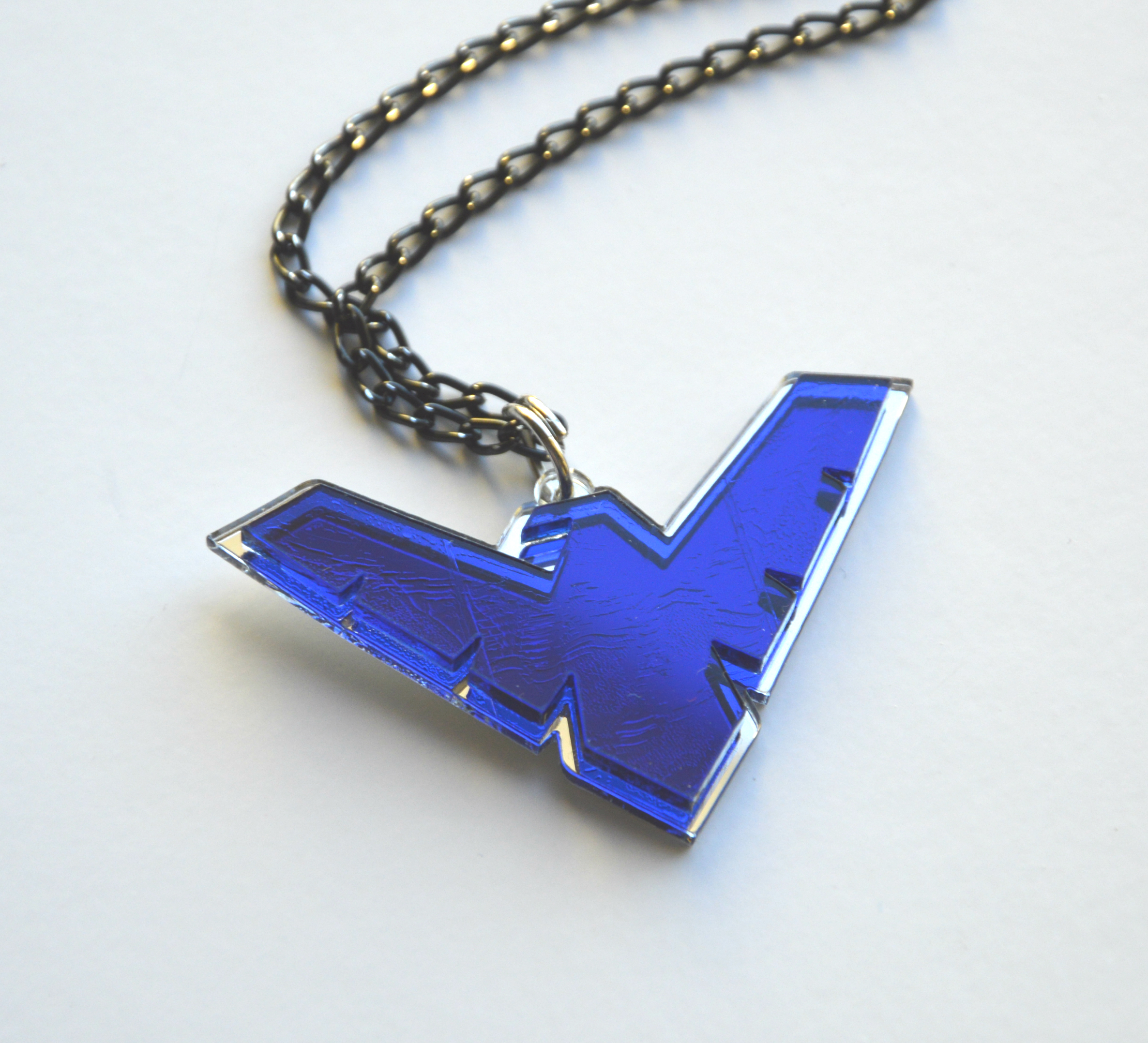 product dichroic blue cobalt fused glass gift index electric shop necklace stained whimsy purple